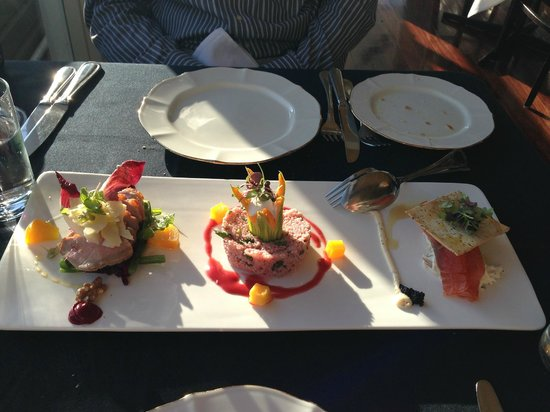 Echoes Restaurant - Blue Mountains : trio of appetisers for two