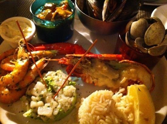 Le Perroquet: assiette de crustacés royale