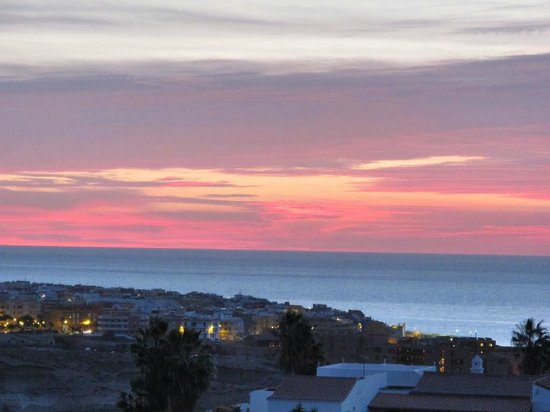 Royal Tenerife Country Club: Sunset over San Blas from our terrace Apt 17A
