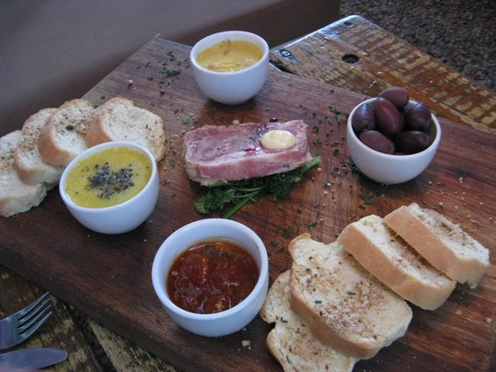 Noisy Oyster: Pate, terrine, bread - delicious starter to share
