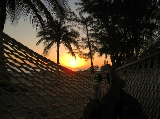 Pirates Point Resort: Hammock view at sunset on beach