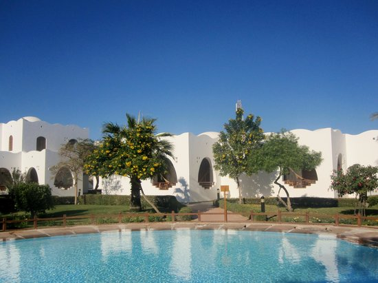 Dahab Resort: FROM EVERY ROOM YOU BOOK YOU CAN JUMP RIGHT INTO THE POOL. THIS PERIOD THE POOL WAS CLOSED.