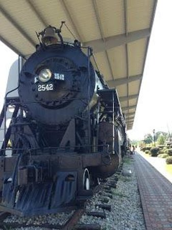 McComb, MS: A historic train sits outside the museum.