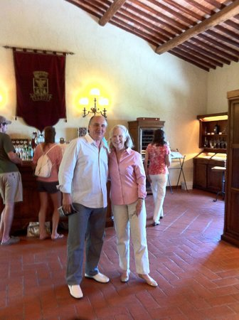 Castello Banfi - Il Borgo: mr matei and mrs marianni the owner of the castello banfi