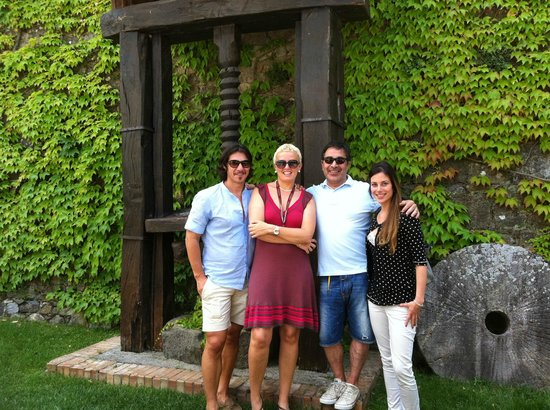 Castello Banfi - Il Borgo: outside garden with friends