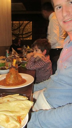 The Mint Room: Lamb Shank - my husbands face says it all!
