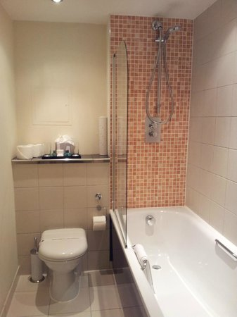 Grand Plaza Serviced Apartments: Toilet, shower and tub