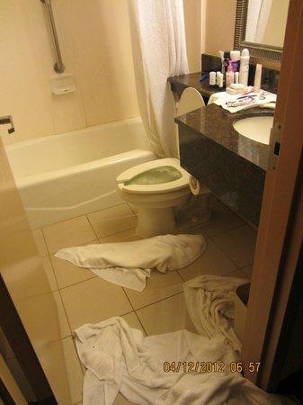 Red Roof Inn Queens: banheiro já todo alagado!!!