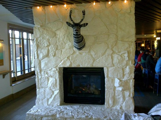 Wildwood Snowmass: One of the Lobby Fireplaces