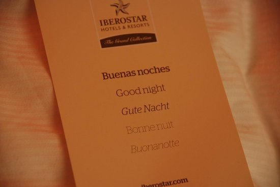 IBEROSTAR Grand Hotel Budapest: Every night we found this note on the bed :)