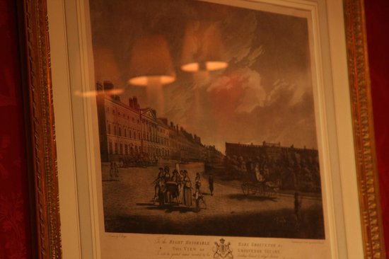 Brenners Park-Restaurant: Original prints and paintings on the walls at Brenners