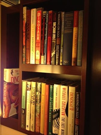Library Hotel: books in our dinosaur room on the 5th floor