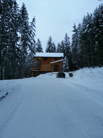 Mount 7 Lodges: The drive up to the Eagle