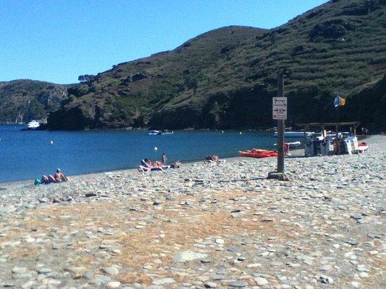 Cala Joncols: Der Strandbereich