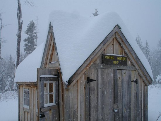 Viking Nordic Center: The little warming hut out on the trail