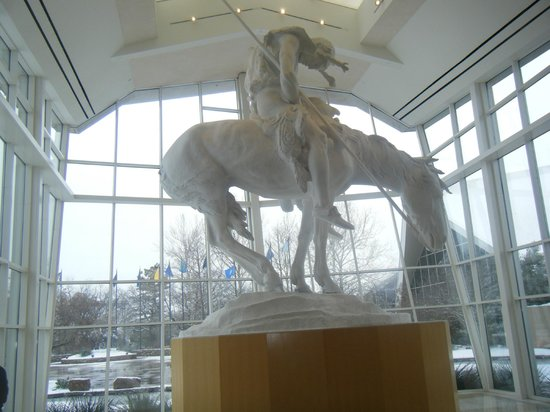 "National Cowboy & Western Heritage Museum : Original of a very famous statue, ""End of the Trail""."