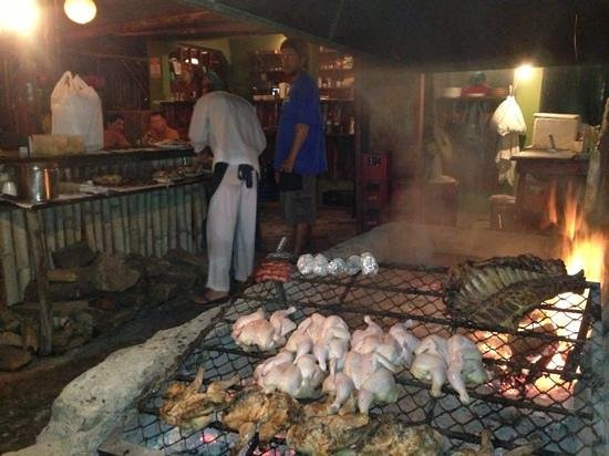 Las Piedras : argentine style chicken slow cooked over hard wood fire