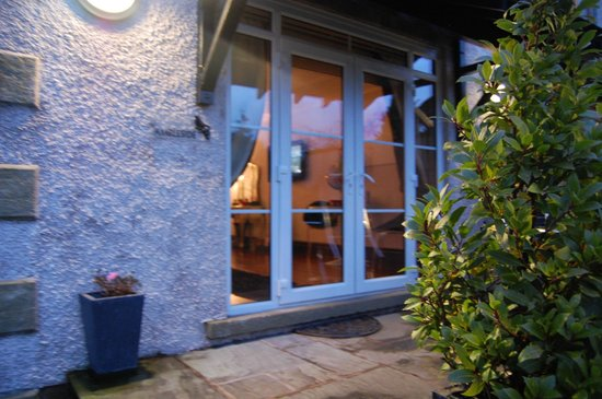 Windermere Suites: the patio area from outside ~ ambleside suite