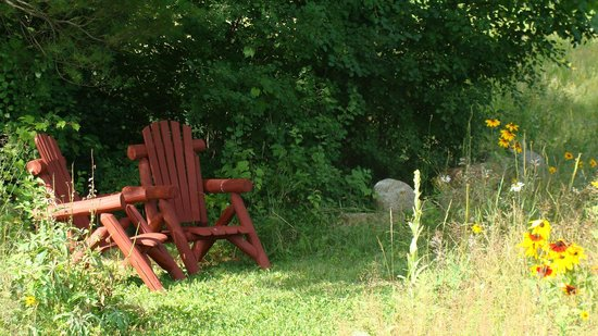 Dartbrook Lodge: Cozy outdoor nooks great for book reading