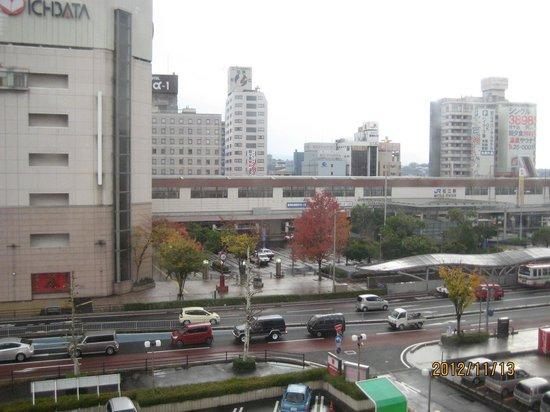 Matsue Excel Hotel Tokyu: Matsue Station from room 410.