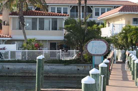 Tortuga Beach Resort: our room from the dock.