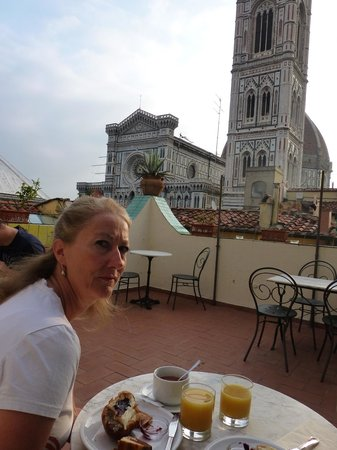 Residenza Giotto: Breakfast area and view