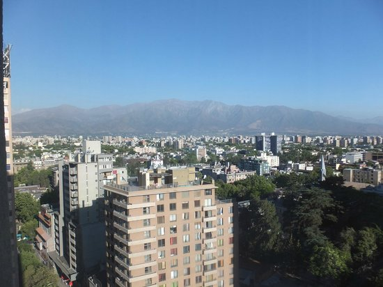 Crowne Plaza Santiago: View from our room