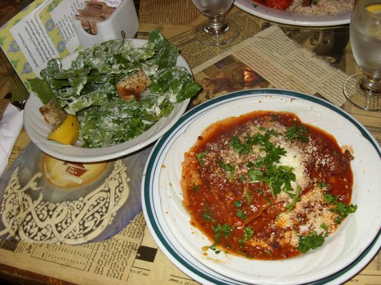Aladdins: Lasagna and Caesar Salad