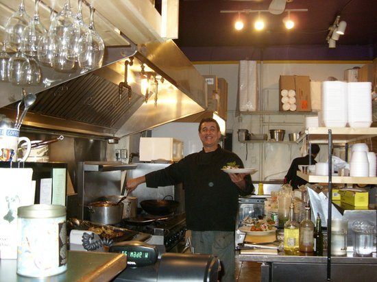 Aladdins: A happy Chef in the kitchen is always a good sign