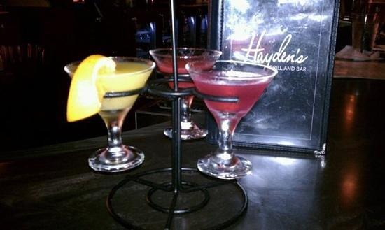 Hayden's Grill and Bar: Tasty Martini Flights