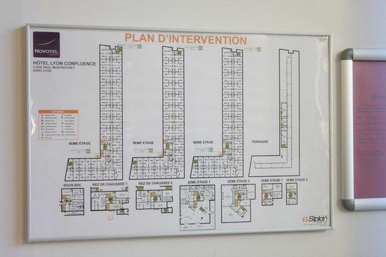 Novotel Lyon Confluence: Full hotel map