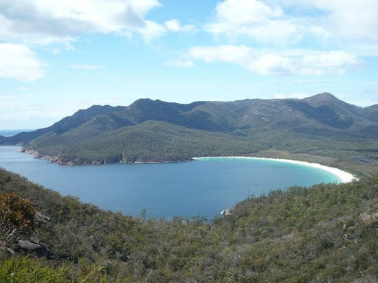 Wineglass Bay Lookout in Tasmania on Wednesday 2 January 2013