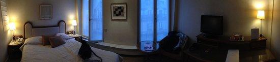 Hotel de l'Arcade: Unser Zimmer im 6. Stock