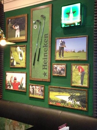 Sheraton Grand Krakow: my favourite wall in sports bar