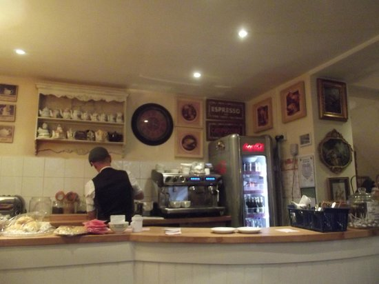 Lavender Tea Rooms: the counter.