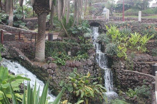Parque Taoro : Pretty waterfalls following the slope into Puerto Cruz