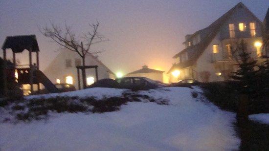 Kapitäns-Häuser Breege: Aussicht vom Appartement Heiligabend 2012