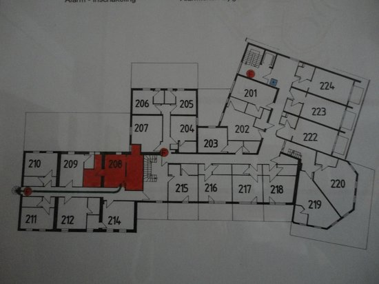 Landidyll Hotel Michels: floorplan of the second floor