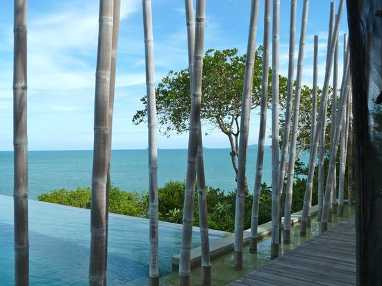 Six Senses Samui: Vue de la piscine 
