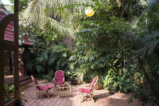 Bougainvillea Guest House Goa: Garten