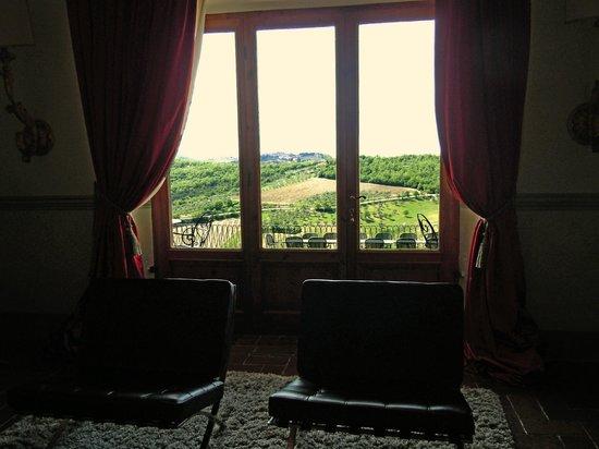 Villa  Vistarenni: panorama dal salone