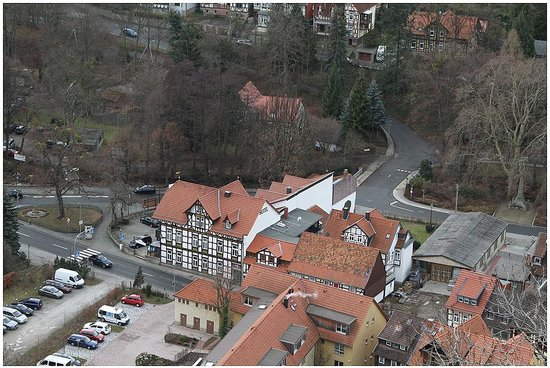 Hotel Fürstenhof: View of the hotel from the castle