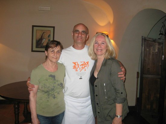 Ristorante Cin Cin: Vincenzo with Mamma Lucia and me.
