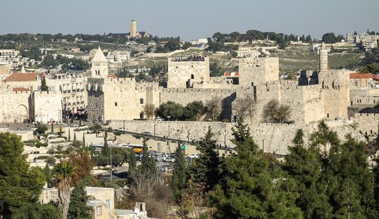 The King David : View of the Old City from a deluxe bedroom