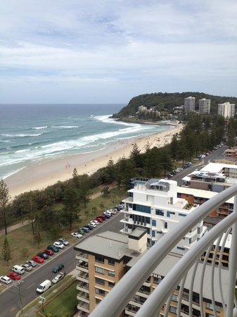 2nd Avenue Apartments : View to the south, across Burleigh Heads