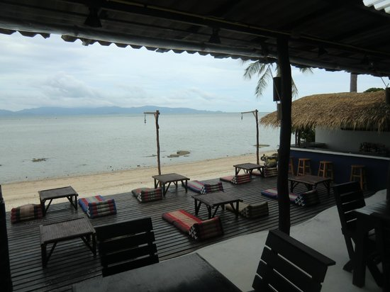 The Blue Parrot Beach Resort: die Chillout Terrasse