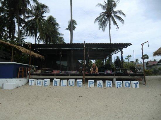 The Blue Parrot Beach Resort: die Terrasse vom Meer aus gesehen