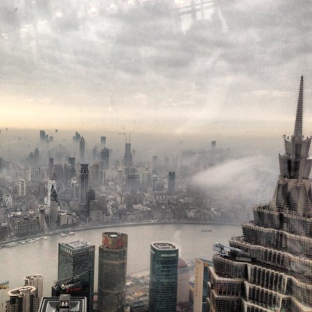 Park Hyatt Shanghai: Breakfast time 91th floor