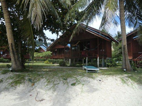 Candle Hut Resort: unsere Hütte vom Strand aus gesehen