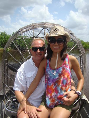 Jungle Erv's Everglades Airboat Tours : Chicks dig the airboat ride!